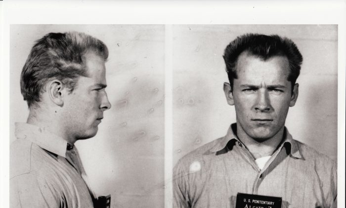 "Mug shot of James ""Whitey"" Bulger. Alcatraz Federal Penitentiary. From the film ""Whitey: United States of America v. James J. Bulger"" (Courtesy of Magnolia Pictures)"