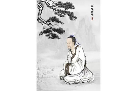 Zhuang Zi, the major patriarch of Daoism following Lao Zi. (S.M Yang/Epoch Times)
