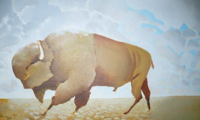 """""""Buffalo"""" by Jorma Nieminen, oil on canvas. (Courtesy of Gamal Rahman)"""