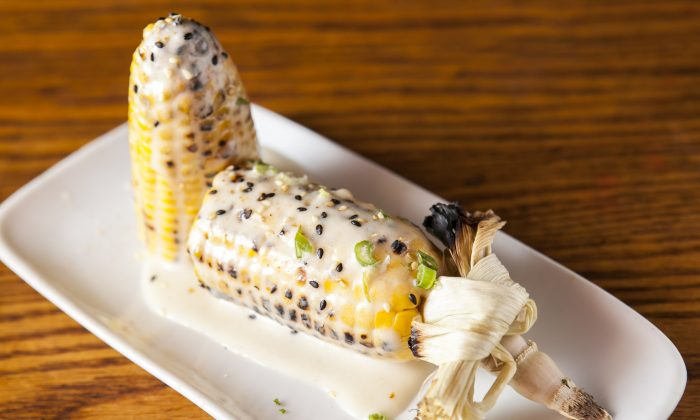Grilled corn on the cob. (Samira Bouaou/Epoch Times)