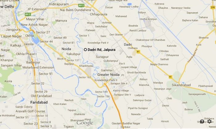 The approximate area where Vijay Pandit was gunned down. (Google Maps)