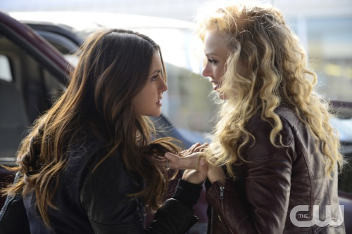 Elena, left, could turn into a villain in The Vampire Diaries season 6. (Guy D'Alema/The CW)