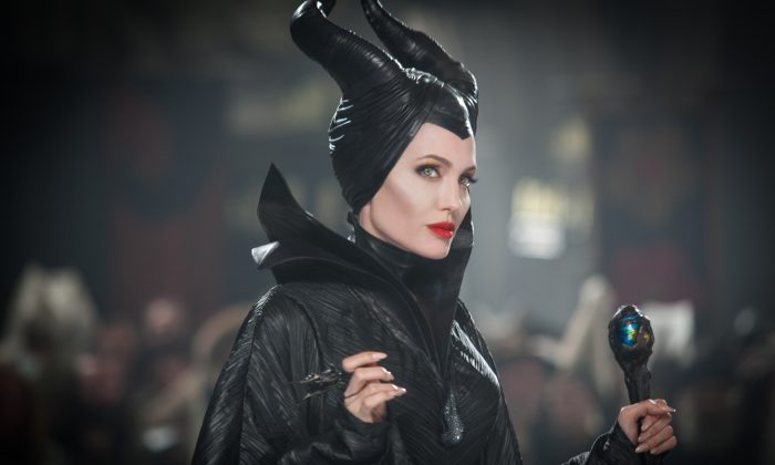"This photo released by Disney shows Angelina Jolie in a scene from the film, ""Maleficent."" (AP Photo/Disney, Frank Connor)"