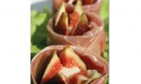 Recipe: Prosciutto di San Daniele, Fig, and Pecorino Roses