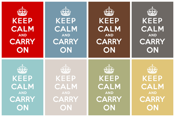 Keep Calm and Carry On became popular nowdays especially thanks to designers. (SimplyFreshDesigns.com)