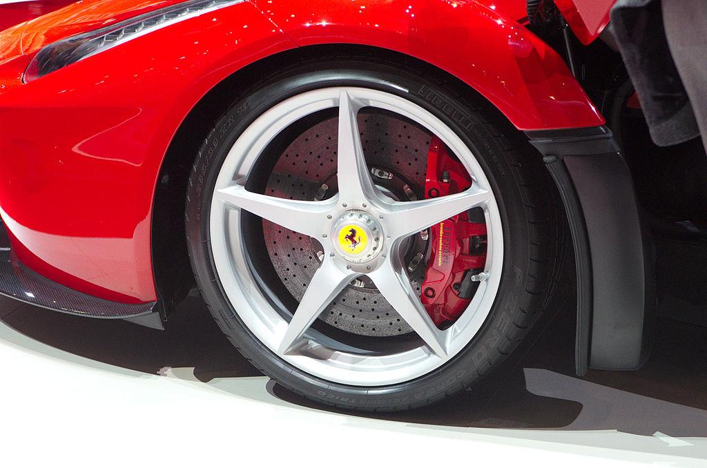 Front wheel of LaFerrari