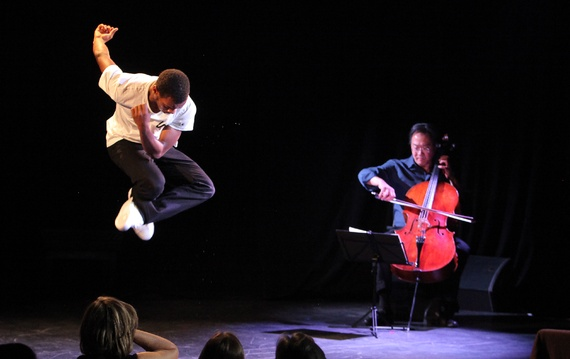 Lil Buck jookin to Yo-Yo Ma, 2013 (New York City Center, Erin Baiano/AP)