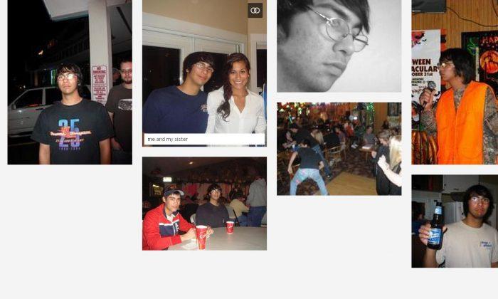 A screenshot of Aaron Ybarra's Myspace. (Screenshot)