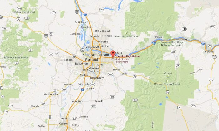 An active shooter is on the loose at Reynolds High School in Oregon, according to reports. (Google Maps)