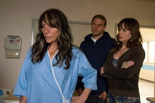 Katey Sagal (Gemma) in a previous season of Sons of Anarchy. (FX)