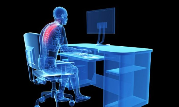 If children don't correct their posture when they are young, posture will be harder to correct when they get older. (Shutterstock*)