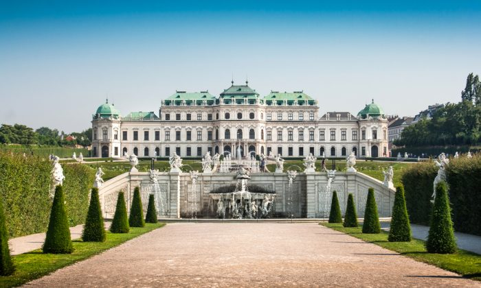 Beautiful view of famous Schloss Belvedere in Vienna. (Shutterstock*)