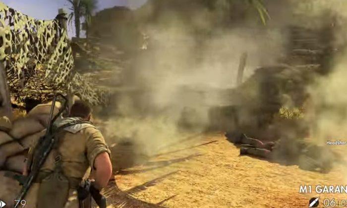 Sniper Elite III gameplay screenshot (YouTube)