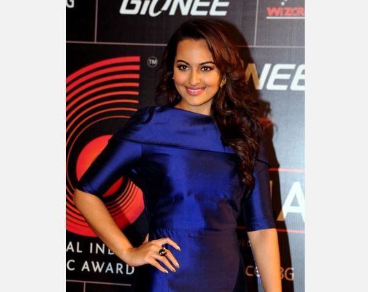 Indian Bollywood film actress Sonakshi Sinha poses during the 'Gima Awards' ceremony in Mumbai on January 20, 2014. (STR/AFP/Getty Images)