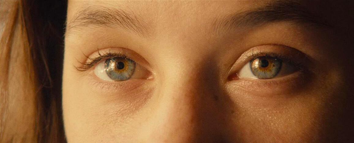 woman's eyes in I Origins