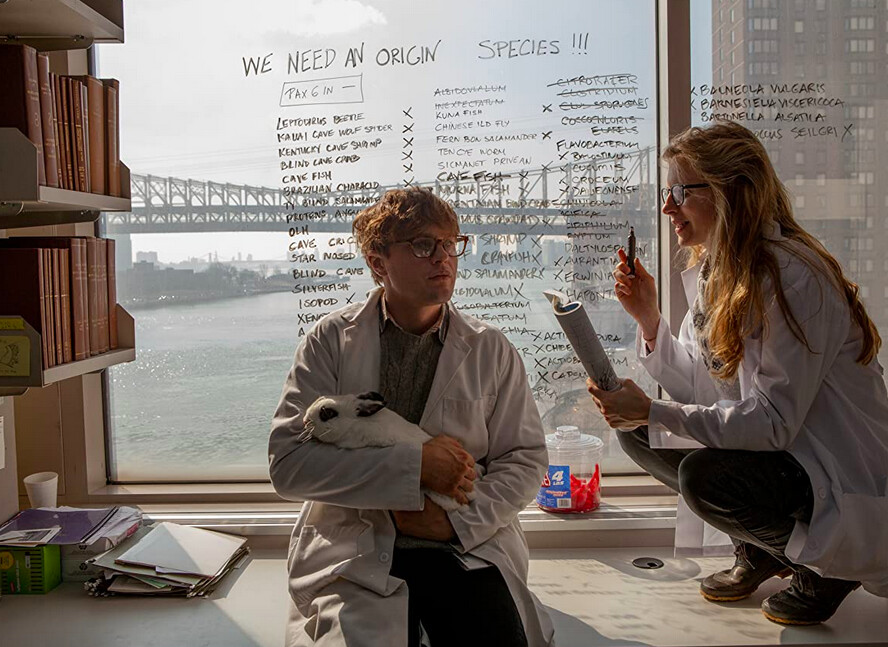 two scientists in I Origins