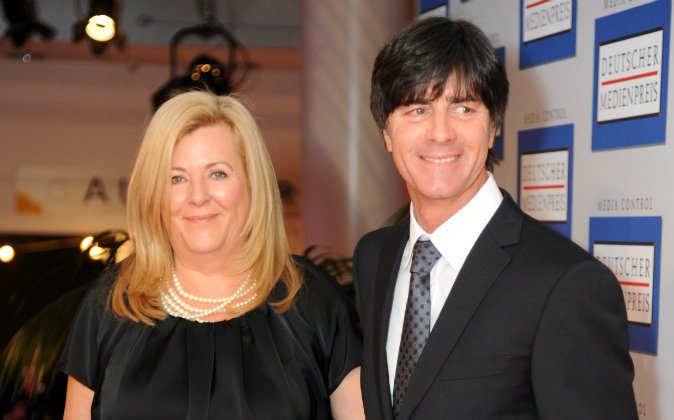 Joachim Loew and his wife Daniela Loew attend the German Media Award on January 24, 2011 in Baden-Baden, Germany. (Photo by Sascha Baumann/Getty Images)