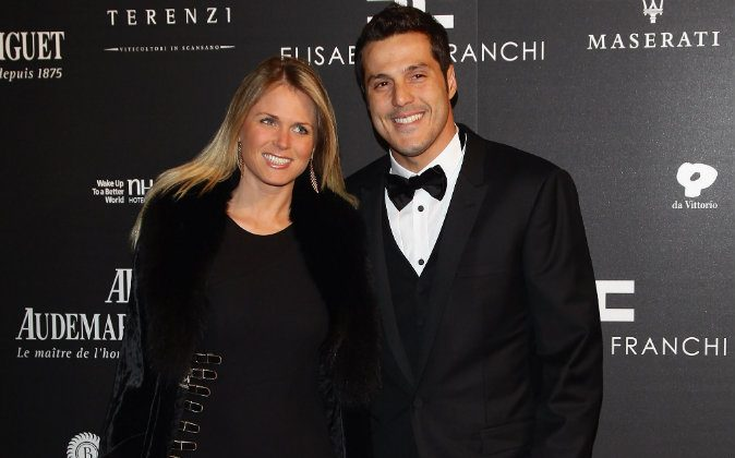 Susana Werner (L) and Julio Cesar (R) attend the 'Fundaction Privada Samuel Eto'o' Charity Event Red Carpet on March 17, 2011 in Milan, Italy. (Photo by Vittorio Zunino Celotto/Getty Images)