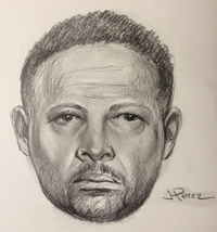 A police sketch of a suspect who assaulted an off-duty police officer. (NYPD)