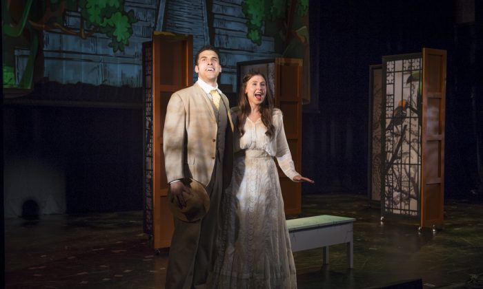 Joel Perez (Diego Clemente) and Madeleine Featherby (Sofia Duarte), the leads, sing in the love story based on a novel by Béa Gonzalez. (Michael Blase)