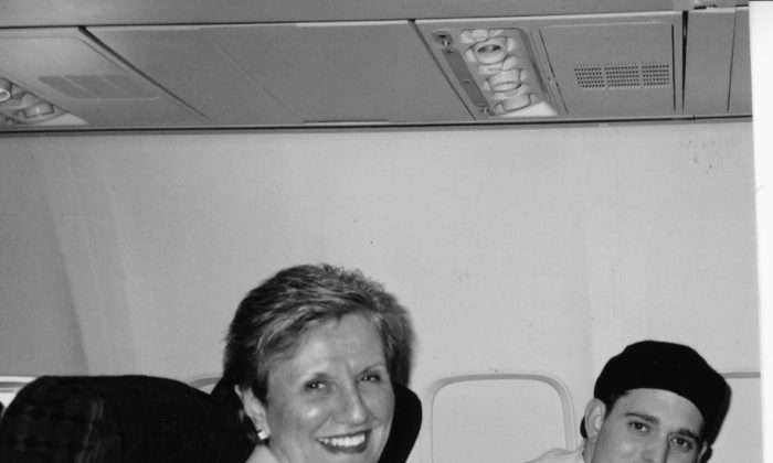 Michael Bublé and Beverly Delich en route to Los Angeles, where they lived for a year in 2002. (Courtesy of Beverly Delich)