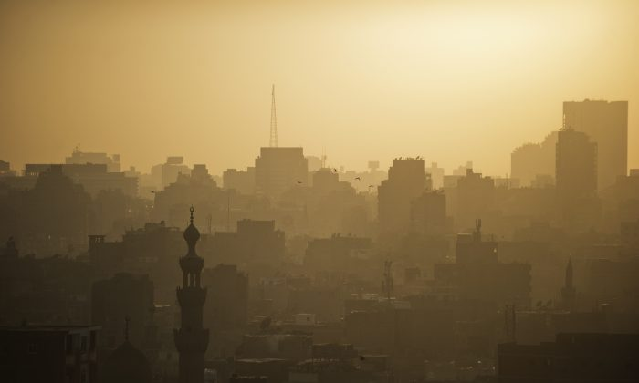 A general view of Cairo's skyline and landscape is seen at sunset on July 13, 2013. (Gianluigi Guercia/AFP/Getty Images)