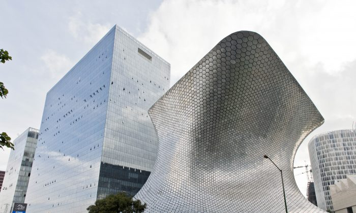 General view of the headquarters of the Carso Group and Soumaya museum of Mexican tycoon Carlos Slim, in Mexico City, on August 30, 2013. (Ronaldo Schemidt/AFP/Getty Images)