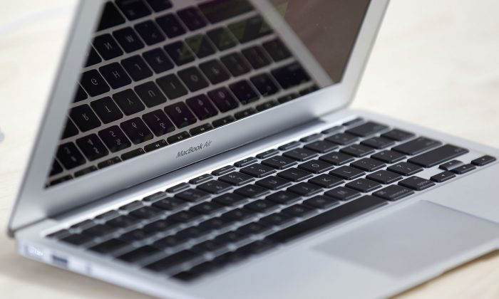 The new 11-inch MacBook Air is displayed at the new Apple Store during a media preview on October 21, 2010 in Chicago, Illinois. (Brian Kersey/Getty Images)
