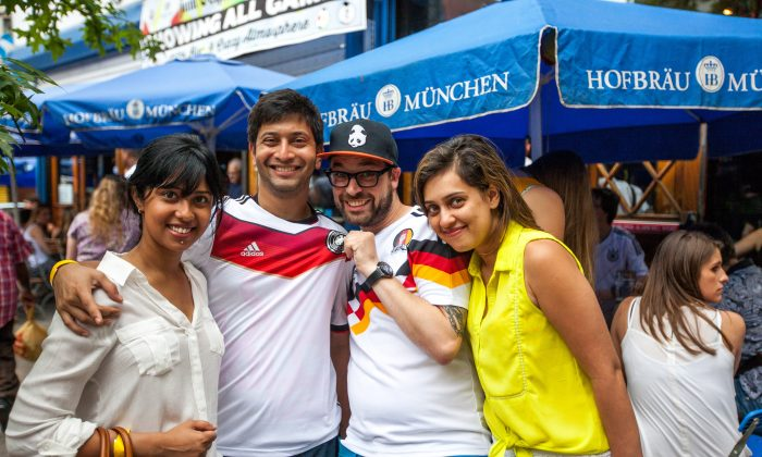 """""""I follow Germany because Podolski and Klose are Polish-born like me. I've seen them live during the 2006 World Cup in Germany, and in Euro 2012 in Poland."""" Yen Drek (2nd R)"""