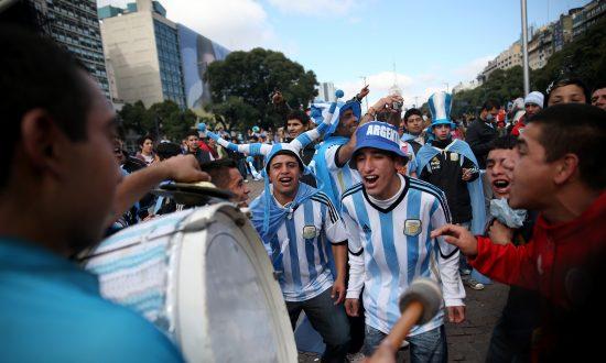 Argentina Celebrates Team Spirit