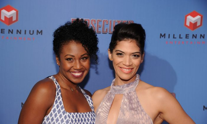 NEW YORK, NY - JULY 18: Actors Tanya Wright and Laura Gomez attend 'Persecuted' screening at Lighthouse International Theater on July 18, 2014 in New York City. (Photo by Ilya S. Savenok/Getty Images)