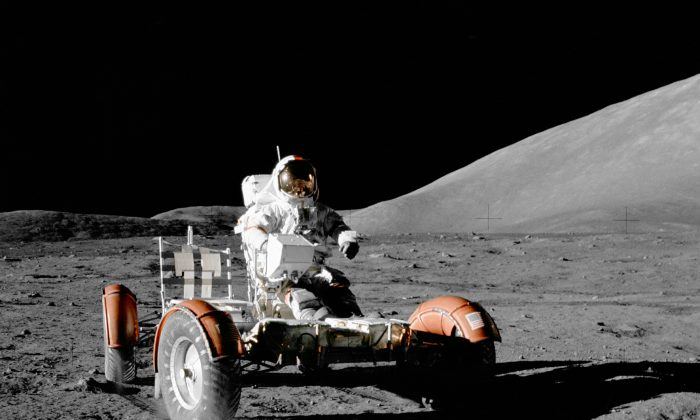"""NASA Apollo 17 Lunar Roving Vehicle"" by NASA - http://grin.hq.nasa.gov/ABSTRACTS/GPN-2000-001139.html. Licensed under Public domain via Wikimedia Commons. July 27, 2014 Moon  After making it to space, the first step is to visit our nearest celestial body — the moon. It took the legendary Apollo 11 mission in 1969 four days to do"