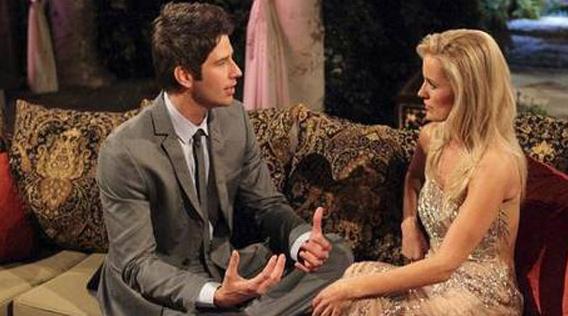 Arie Luyendyk Jr. with former Bachelorette Emily Maynard. (ABC)