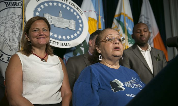 New York City Council Speaker Melissa Mark-Viverito speaks at the City Hall in New York on July 23, 2014. (William Alatriste/City Council)