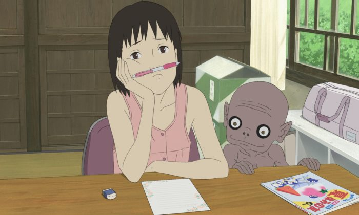 "Momo Miyaura deals with the grief of losing her father in ""A Letter to Momo,"" a film by Hiroyuki Okiura. (Courtesy of GKids Films)"