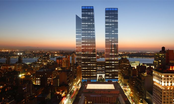 A rendering of the finished 7 million square-feet Manhattan West development. (Courtesy of Brookfield Properties)