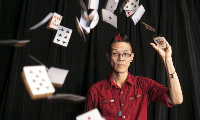 "Roger Quan, also known as Rogue, at his magic shop in Elmhurst, Queens, on July 15. Rogue has performed his tricks on ""America's Got Talent."" (Samira Bouaou/Epoch Times)"