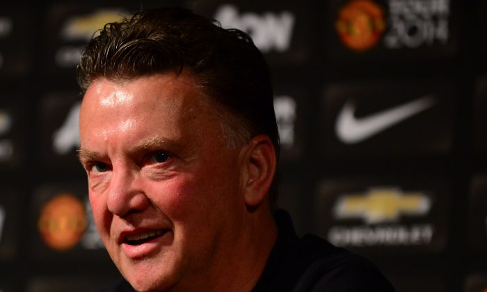 Manchester United's new coach Louis Van Gaal speaks during a press conference ahead of a training session at the Rose Bowl, in Pasadena, California, on July 22, 2014 where the English Premier League side play Major League Soccer's LA Galaxy on July 23. (FREDERIC J. BROWN/AFP/Getty Images)