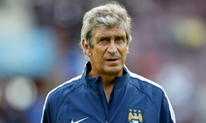 Manuel Pellegrini, manager of Manchester City before the pre-season friendly at Tynecastle Stadium on July 18, 2014 in Edinburgh, Scotland. (Photo by Richard Sellers/Getty Images)