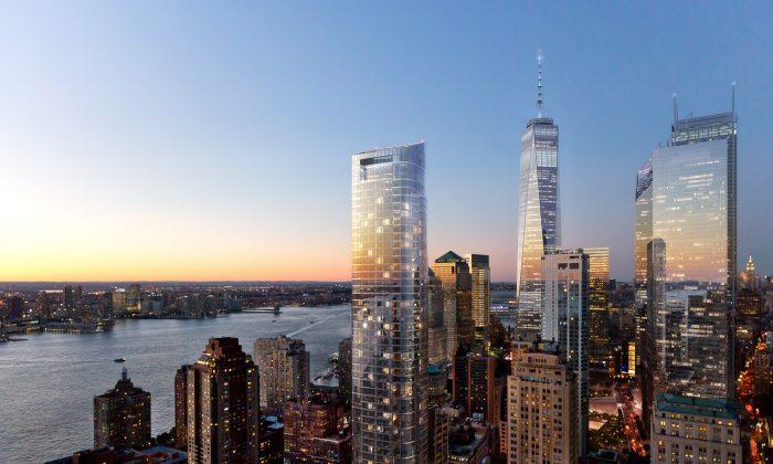 Renderings of 50 West in downtown Manhattan. (DBox)