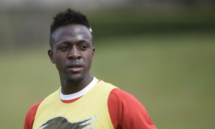 Belgium's forward Divock Origi takes part in a training session in Mogi das Cruzes during the 2014 FIFA World Cup in Brazil on June 29, 2014 . (MARTIN BUREAU/AFP/Getty Images)