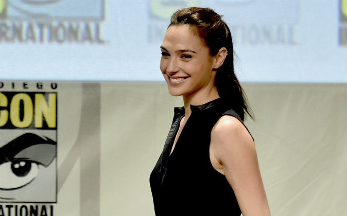 Actress Gal Gadot  will be featured as Wonder Woman in the movie. Here, she attends the Warner Bros. Pictures panel and presentation during Comic-Con International 2014 at San Diego Convention Center on July 26, 2014 in San Diego, California. (Photo by Kevin Winter/Getty Images)