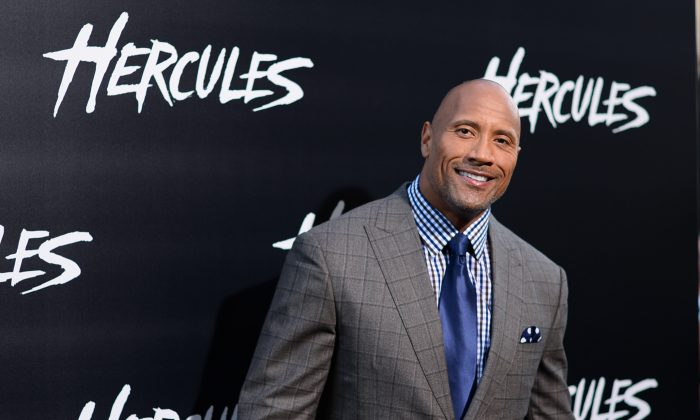 Dwayne Johnson arrives at the premiere of Hercules at TCL Chinese Theatre on Wednesday, July 23, 2014, in Los Angeles. (Jordan Strauss/Invision/AP)