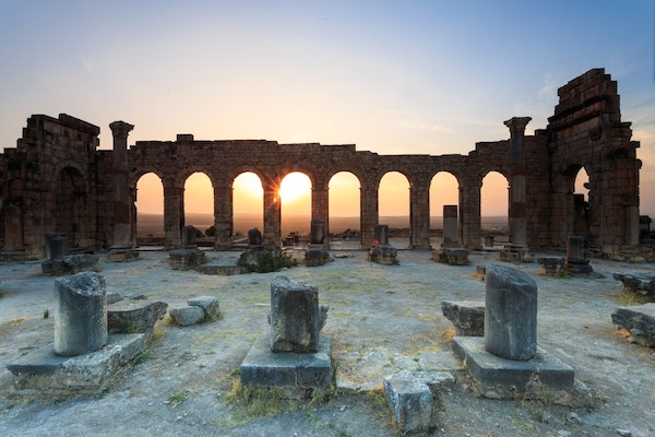 The Roman ruins of Volubilis (between Meknes & Fez) are worth a stop! (Journey Beyond Travel)