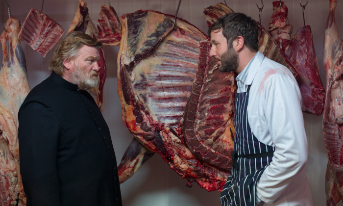 "Brendan Gleeson as Father James Lavelle and Chris O'Dowd as the butcher in ""Calvary."" (Fox Searchlight Pictures)"