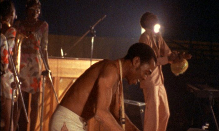 "Fela Kuti in ""Finding Fela,"" a documentary about the creator of Afrobeat. (Michele Buono/Piero Riccardi, Kino Lorber)"
