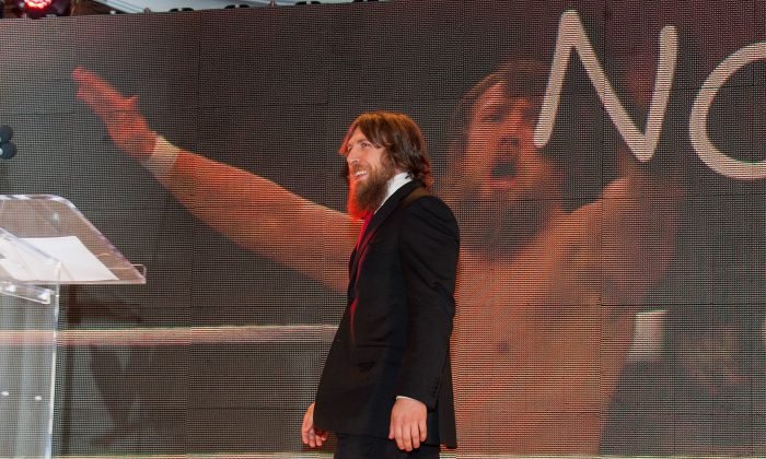 Daniel Bryan of the WWE, in a file photo, might not return from his injury until January 2015. (Getty Images)