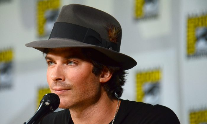 "Ian Somerhalder attends the ""Vampire Diaries"" panel on day 3 of Comic-Con International on Saturday, July 26, 2014, in San Diego. (Tonya Wise/Invision/AP)"
