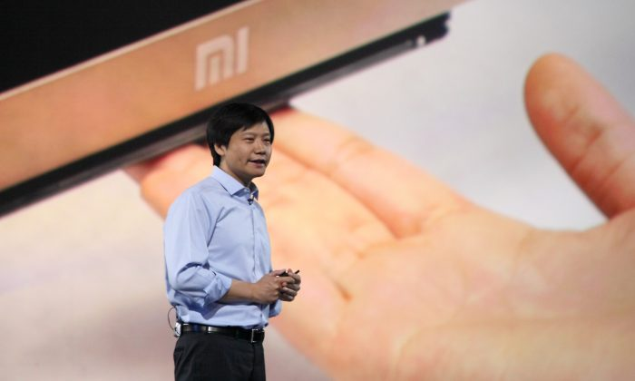 Xiaomi CEO Lei Jun speaks during a product launch on May 15 in Beijing, China. Xiaomi's Redmi Note smartphone was recently found to automatically connect to an IP address in Beijing. (ChinaFotoPress/ChinaFotoPress via Getty Images)