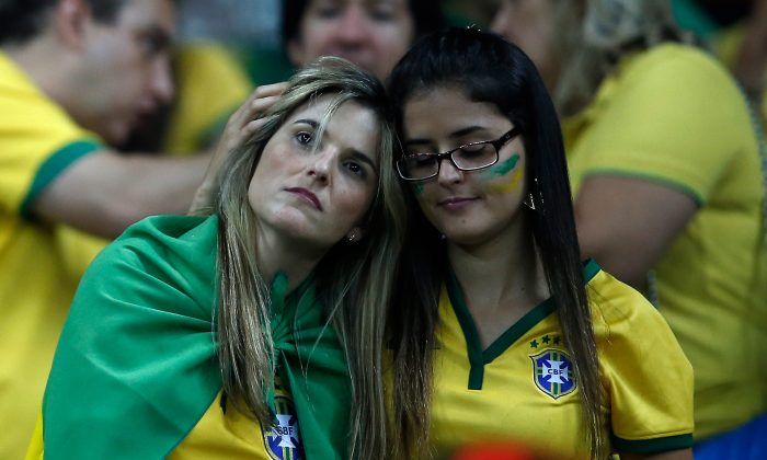 The enduring image of Brazil's World Cup? (ADRIAN DENNIS/AFP/Getty Images)